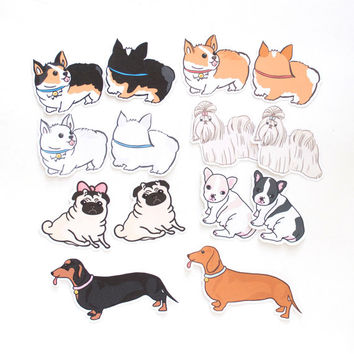 Dogs Stickers | Puppy stickers | cute stickers | pet stickers | die cut stickers | stickers set | laptop stickers | phone stickers