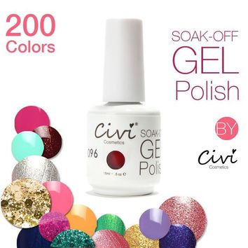 212 Colors Focallure Soak-off Gel Nail Polish