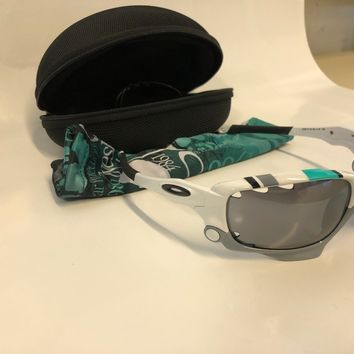 Oakley 30 Years Racing Jacket Polished White 2 set lens Fire Black OO9171-24