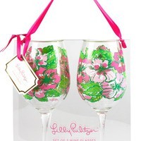 Lilly Pulitzer Wine Glasses (Set of 2)