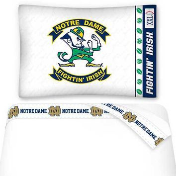 NCAA Notre Dame Fighting Irish Bed Sheet Set College Bedding