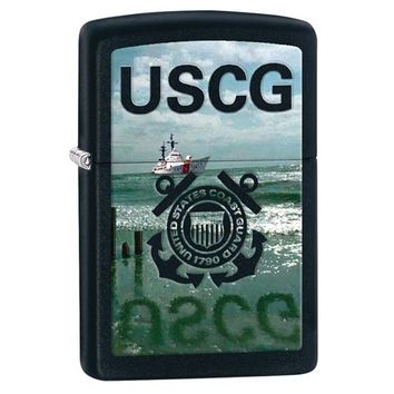 Zippo U.S. Coast Guard Black Matte Lighter