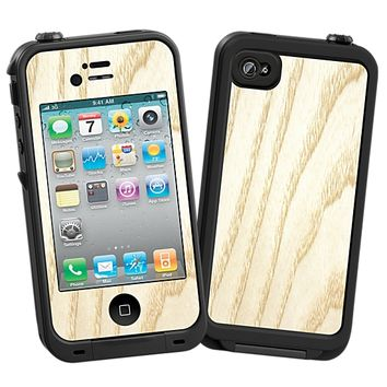 White Ash Skin for the iPhone 4/4S Lifeproof Case by skinzy.com