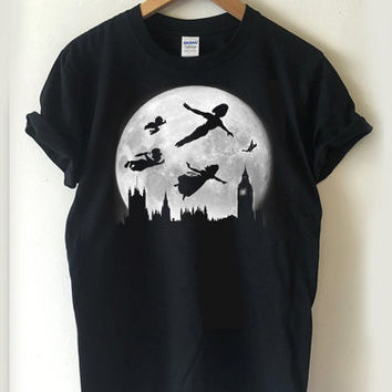 Peter Pan Moon over London T-shirt Men, Women Youth and Toddler