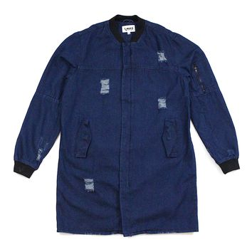 Tyson Trench Coat (Denim Blue)