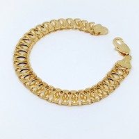 1-0554-g7 Gold Filled Wide Link Bracelet.
