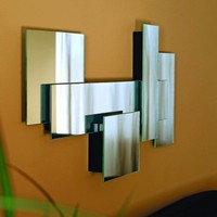 nexxt 30 by 15 by 2-Inch Miami Series Fully Assembled Multi Level Collage Mirror