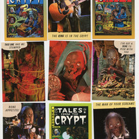 Tales from the CRYPT, 1993 Vintage collectible cards by Cardz, lot of 9 cards in Great condition