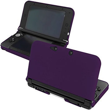 Purple Hard Rubberized Case Cover for Nintendo 3DS XL