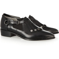 Karl Lagerfeld | Fringed leather brogues | NET-A-PORTER.COM