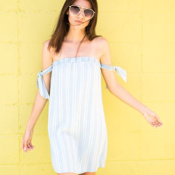 Bella Chambray Stripe Dress