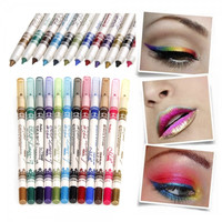 12 Color Waterproof Glitter Eye Lip Pencil Set