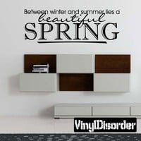 Between winter and summer lies a beautiful spring Spring Holiday Vinyl Wall Decal Mural Quotes Words HD089