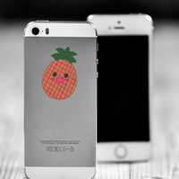 """Pineapple Kawaii Die Cut Sticker // Cute Japanese // Cell Phone & Tablet Small Size // 2"""" // Perfect For Indoor, Outdoor, Laptop, Car"""