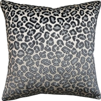 Cheetah Velvet Silver Pillow