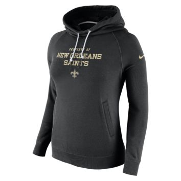 Nike Stadium Rally Funnel Pullover (NFL Saints) Women's Hoodie