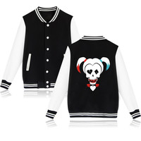 Suicide Squad Harley Quinn Jacket Woman and Clothing Women Hoodie in black Pink Girls Coats and Jackets Friday aikooki