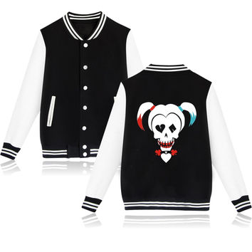 Suicide Squad Harley Quinn Jacket Woman and Clothing Women Hoodie in Pink Girls Coats and Jackets Friday duster coat XXS-4XL