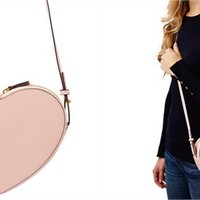Heart Shaped Crossover Bag - Pink