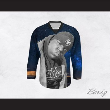 Biggie Smalls 21 Cosmic Stars Hockey Jersey
