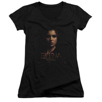 VAMPIRE DIARIES/ELENA SMOKEY VEIL-JUNIOR V-NECK-BLACK