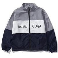 """BALENCIAGA"" Popular Casual Letter Print Zipper Cardigan Sweatshirt Jacket Coat Windbreaker Sportswear Red I12688-1"