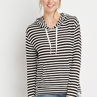 Striped Loose Knit Hoodie
