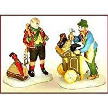 "Department 56 ""Cobbler & Clock Peddler"" Set of 2 Handpainted Porcelain Heritage"