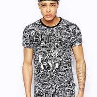 Love Moschino T-Shirt in Chain Print
