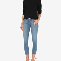 FRAME EXCLUSIVE Le Skinny De Jeanne Crop: Mountain View at INTERMIX | Shop Now | Shop IntermixOnline.com