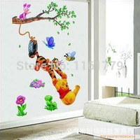 Hot Selling Trees And Bear Wall Sticker Cartoon Nursery Daycare Baby Room Decor Free Shipping TC1067