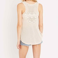 Blu pepper Crochet Insert Top in Ivory - Urban Outfitters
