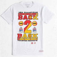 Mitchell & Ness Houston Rockets Back-2-Back Champs Tee