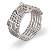 Sterling Silver Musical Notes Ring - Clearance Final Sale