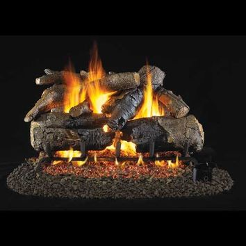 "Peterson Real Fyre Vented G4 Burner with 24"" American Oak Log Set"