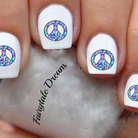 1136 Peace Sign 20 Water Slide Nail Art Transfer Decals stickers