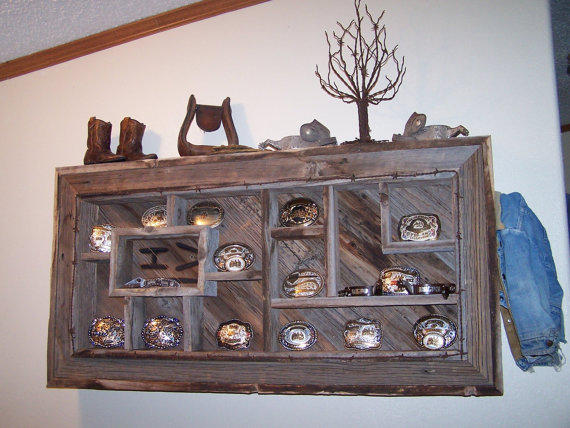 Belt Buckle Display Shelves Shadowbox From