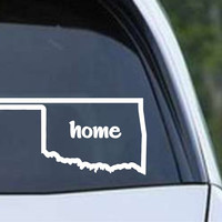 Oklahoma Home State Outline OK - USA America Die Cut Vinyl Decal Sticker