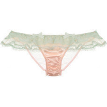 Agent Provocateur Pamelina lace and satin briefs - 60% Off Now at THE OUTNET
