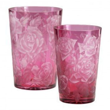 Cyan Designs Large Rose Vase in Red and White - 04048 - Vases - Decorative Accents - Decor