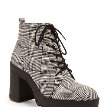 Glen Plaid Booties
