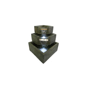 Smart Garden-Cascadia Falls Electric Corner Fountain with LEDs