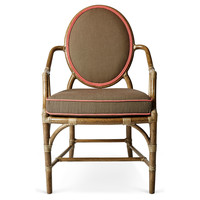 One Kings Lane - Beauty Through & Through - Caned Oval Back Chair