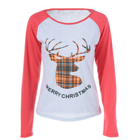 T-shirts Print Christmas Tops Hoodies [9307400388]