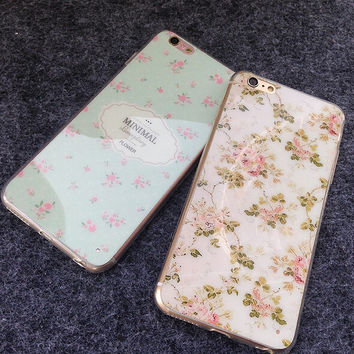 Floral Case for iPhone 5s 5se 6 6s Plus Gift 326
