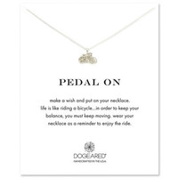 pedal on bike necklace, sterling silver - Dogeared