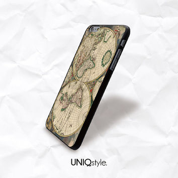Retro old map case for HTC/Nokia - vintage world map case for HTC one m7, m8, htc one mini, one Max - Nokia lumia 520, 630, 920, 1520 - N46