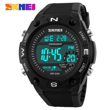 SKMEI Brand Men's Quartz Digital Watch Men Sports Watches LED Military Waterproof Wristwatches Relogio Masculino