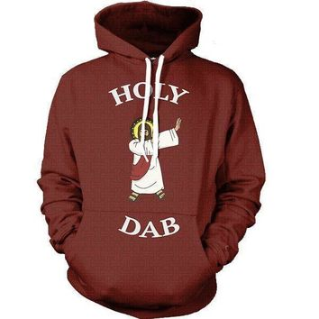 ca auguau HOLY DAB 3D Print Unisex Pollover Hoodies With Pocket Hooded Sweatshirt US Size Long-sleeve Hoodie Tops Hip Hop Sportswear