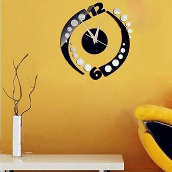 Rotation Clock Wall Sticker Home Decoration Removable Vinyl